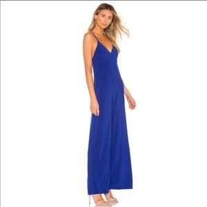 Norma Kamali Blue Slip Jumpsuit XS